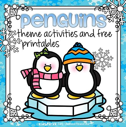 penguins theme activities and printables for preschool and 248 | penguins page topper small orig
