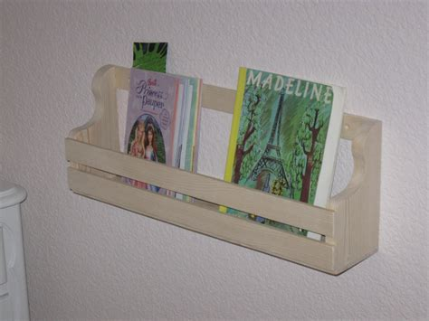 Book Rack Holder Shelf Low Profile Wall Mount 16 Inches Long