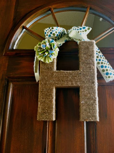 jute covered cardboard  fabric embellishment  diy door decor  hand picked