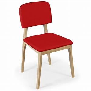 Chaise Scandinave Rouge : chaise scandinave tissu rouge wako ~ Teatrodelosmanantiales.com Idées de Décoration