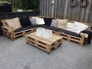 Sitzecke Aus Paletten : meuble en palette 81 id es diy pour votre espace maison ~ Frokenaadalensverden.com Haus und Dekorationen