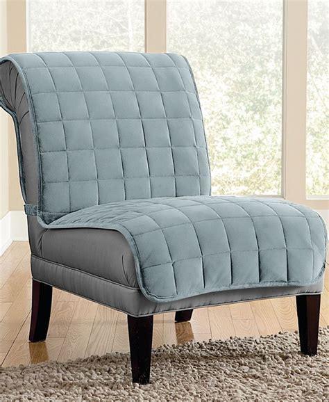slipcover for armless chair sure fit velvet deluxe pet armless chair slipcover with