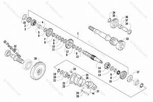 Arctic Cat Side By Side 2008 Oem Parts Diagram For Secondary Transmission Assembly