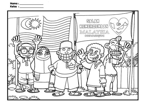 merdeka coloring pages  kids parenting times