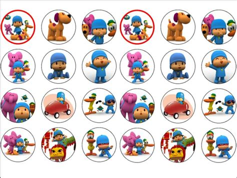 pocoyo edible wafer paper rice cup cake toppers tops