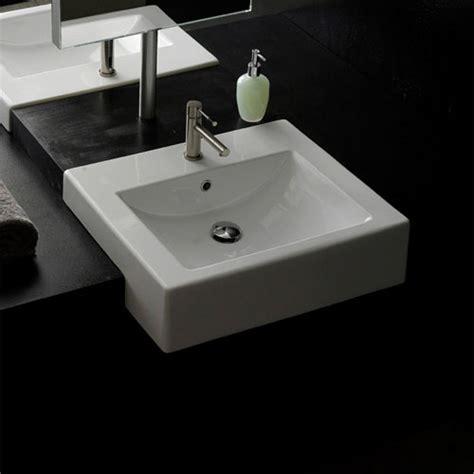 square semi recessed sink zuri furniture