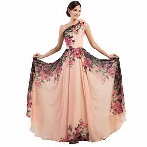 3 Designs Evening Dresses Stock One Shoulder Flower