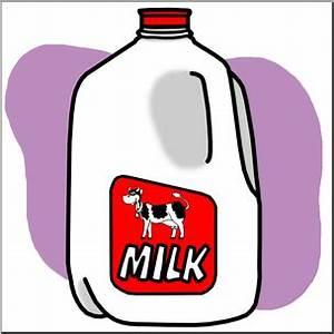 Clip Art: Food Containers: Milk Jug Color I abcteach.com ...