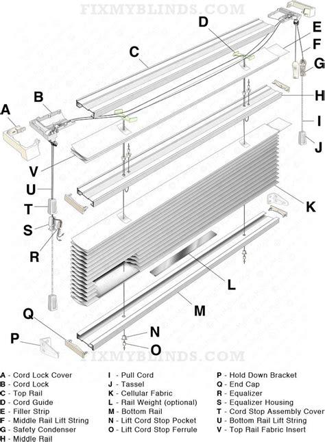 top  bottom  cellular shade diagram  fixing