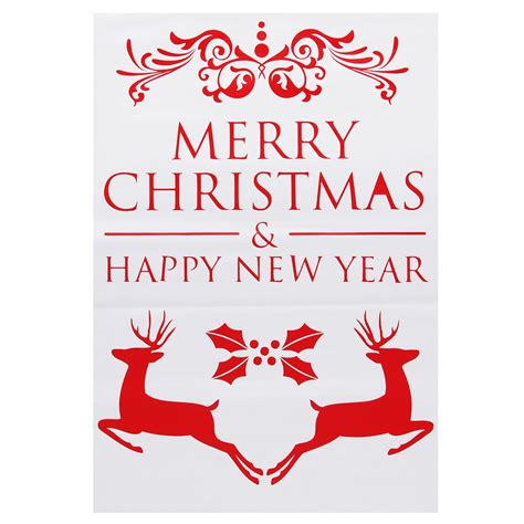 merry christmas elk wall window sticker removable