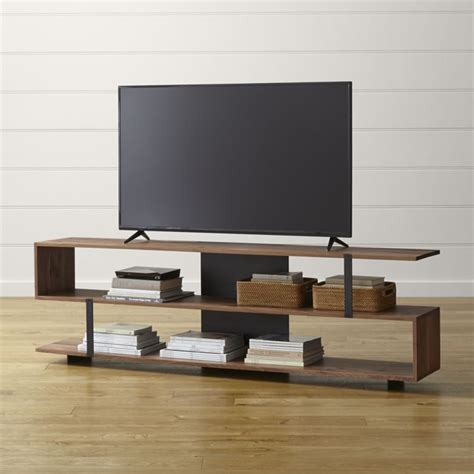 west elm flat bar storage desk austin 78 quot media console in tv stands media consoles