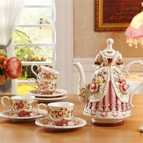 english style rustic coffee cup set wedding gifts tea set
