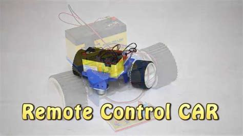 How Make Remote Control Car Youtube