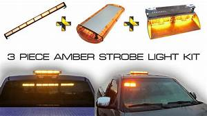 Amber Emergency Security Led Light Kit Windshield Dash