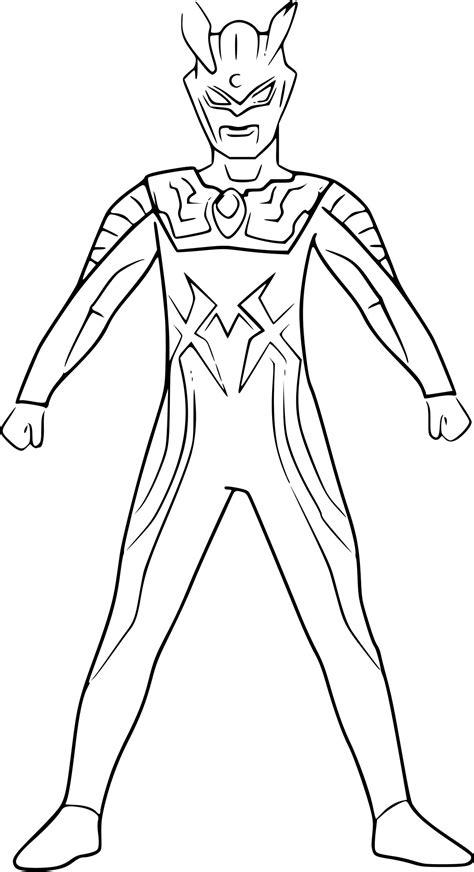 Gambar Mewarnai Ultraman X Gambar Mewarnai Hd