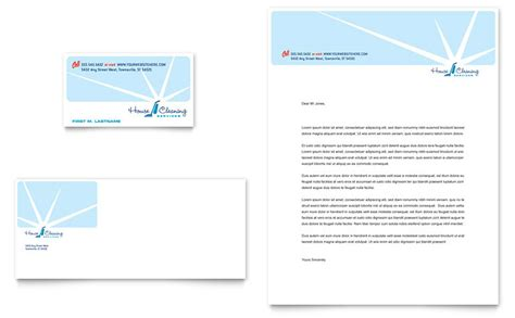house cleaning housekeeping business card letterhead