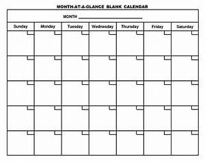 Printable Blank Calendar Template  U2026