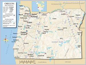Reference Map of Oregon, USA - Nations Online Project Oregon