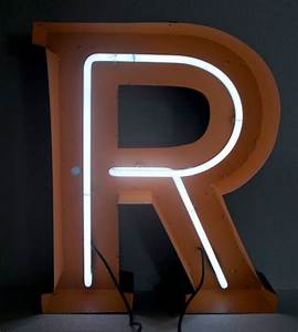 Large neon vintage aluminum letters by hayward neon for Large neon letters