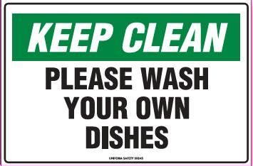 Office Kitchen Clean Up Signs by Printable Keep Breakroom Clean Signs Keep Clean Sign