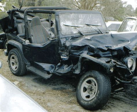 Jeep Wrangler Car Accident Wrecked In Wilmington Nc