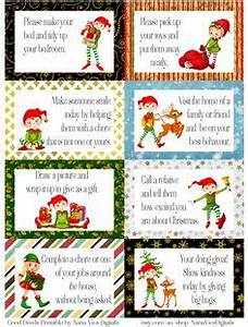 Holiday good deed cards Not for our elf on the shelf