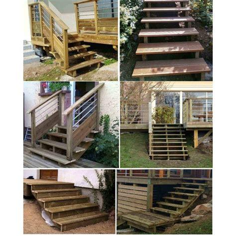 kit escalier 3 marches largeur 80 cm en pin trait 233
