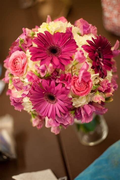 Gerber Daisy Hydrangea Sweet Pea And Ranunculus Bouquet