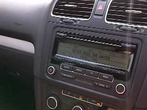 vw golf mk6 tsi standard stereo can sound really