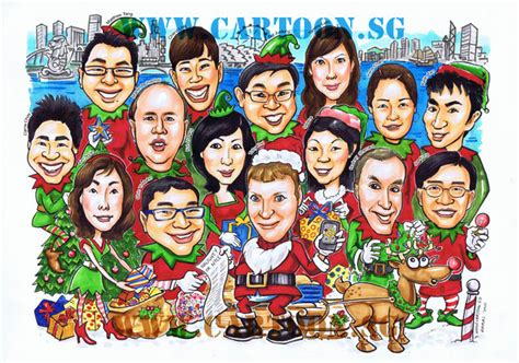 merry christmas and a happy new year caricaturist has