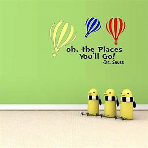 oh the places you39ll go with colored balloons dr seuss With best of oh the places youll go wall decal