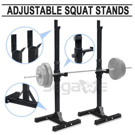 Home Gym Squat Rack Barbell Stand Crossfit Weights Lifting