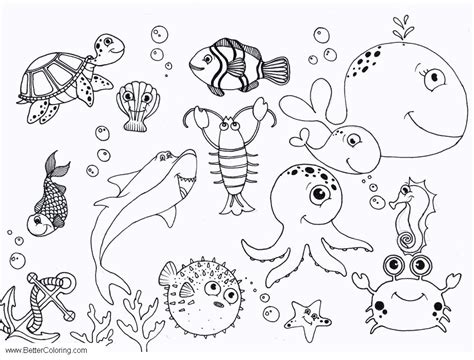 Under The Sea Octopus Coloring Pages