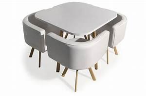 Table Avec Chaise Encastrable : table avec chaises encastrables scandinaves blanc copenhague table manger pas cher ~ Teatrodelosmanantiales.com Idées de Décoration