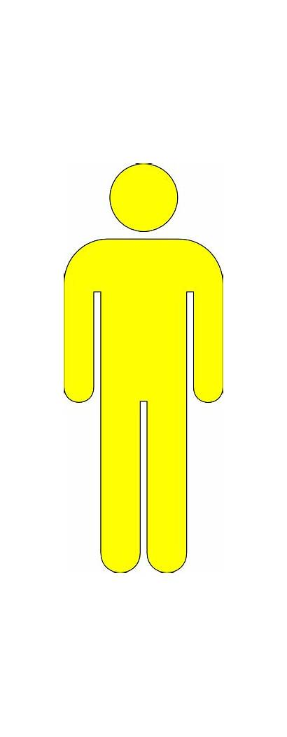 Yellow Icon Male Clip Clipart Clker Vector