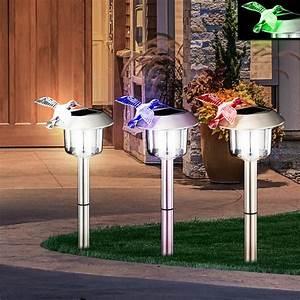 Luminaire Solaire Extérieur : set 3 led clairage jardin solaire ext rieur lampe luminaire inox ip44 colibri ebay ~ Teatrodelosmanantiales.com Idées de Décoration