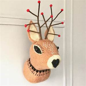 Christmas, Reindeer, Wall, Decoration, By, Pink, Pineapple, Home, U0026, Gifts