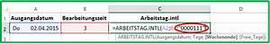 Excel Wochentag Berechnen : excel datum mit der funktion arbeitstag intl berechnen ~ Haus.voiturepedia.club Haus und Dekorationen