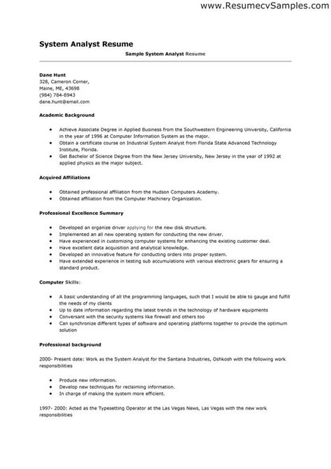 data analyst resume sle don t for get to write a resume