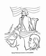 Washington George Congress Coloring Pages Drawing Presidents Usa Continental Second President Printables Getdrawings sketch template