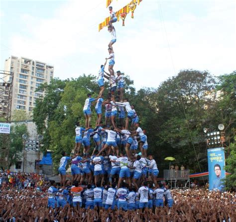 pomp dahi handi  devotion nation celebrates lord