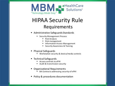 mbm ehealthcare solutions hipaa hitech meaningful