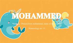 Mohammed Name Meaning