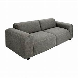posada canape 2 places en tissu gris noir habitat With habitat canape 2 places