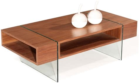 Wohnzimmertisch Holz Modern by Brown Solid Wood Modern Coffee Table W Glass Top Coffee
