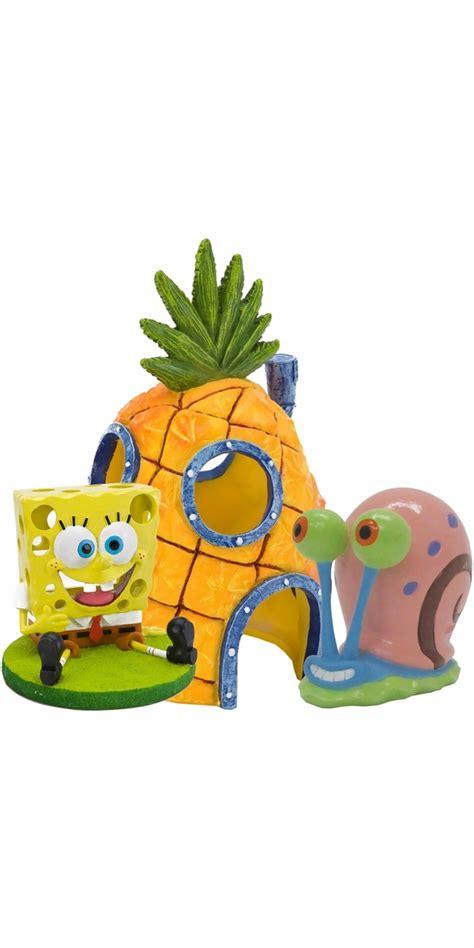 Spongebob Fish Tank Ornaments Set by Spongebob Home Aquarium Ornament Set Entirelypets
