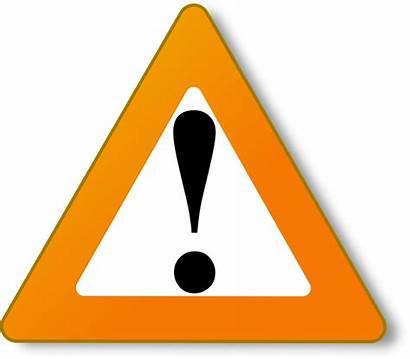 Triangle Warning Orange Sign Caution Danger Vector