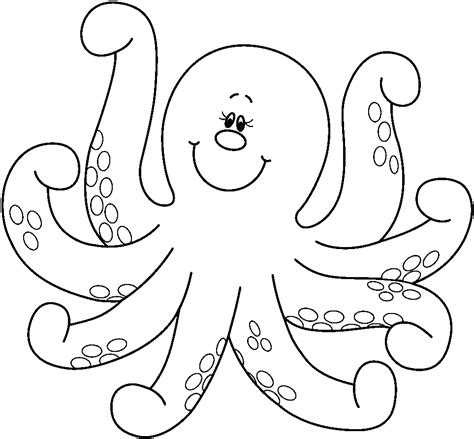 octopus coloring pages preschool  kindergarten