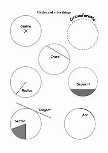 Circle And Its Parts Naming