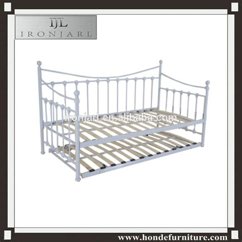 metal day bed guest bed frame with under bed trundle